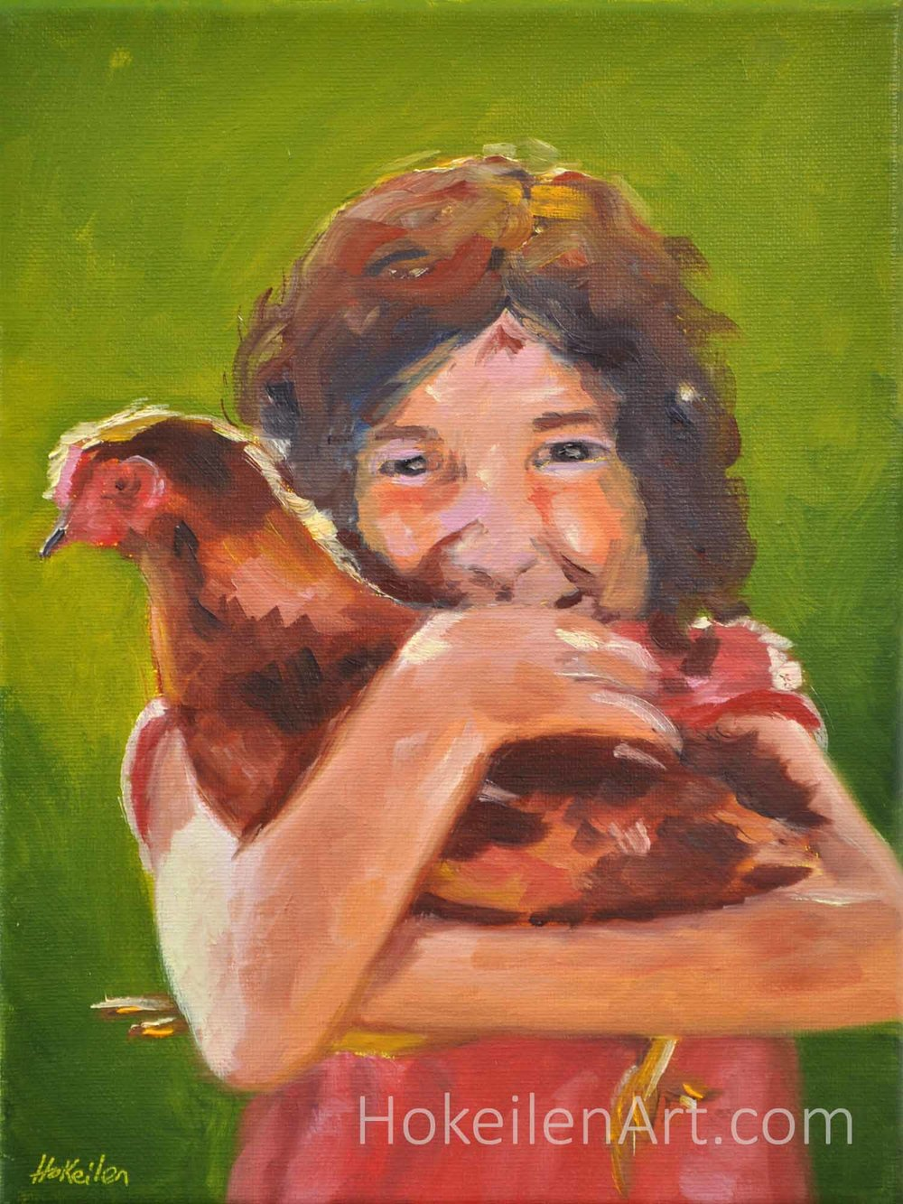 Becoming Vegetarian - oil on canvas, 12