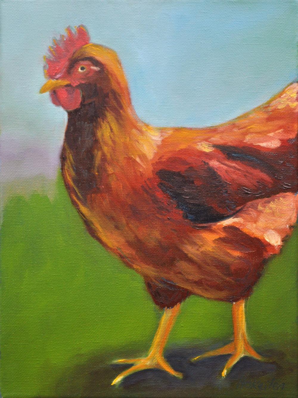 Chicken Little - oil on canvas, 12