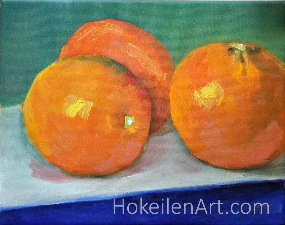 Oranges - oil on canvas, 8
