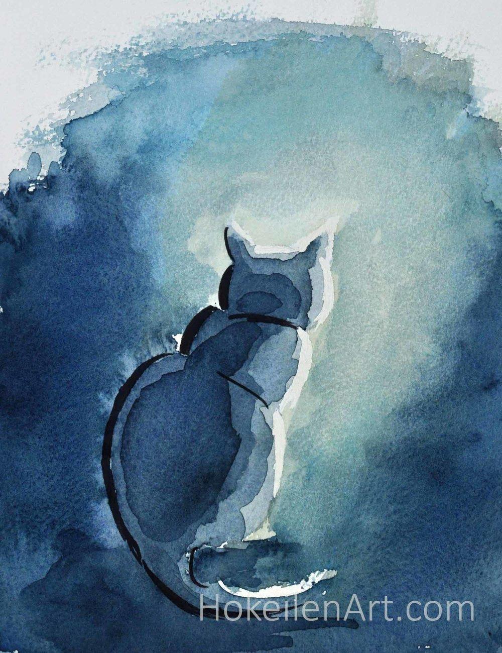 Meditation - watercolor on paper, unframedJune 2018