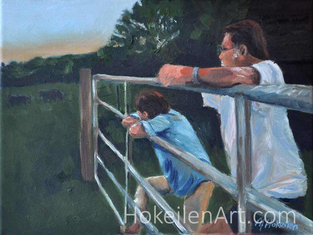 Evening at Home (in work) - oil on canvas 9