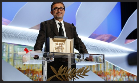 Director Nuri Bilge Ceylan receives the Cannes 2014 Palme d'Or for Winter Sleep