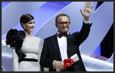 Actress Paz Vega and Director Andrey Zvyagintsev for Leviathan