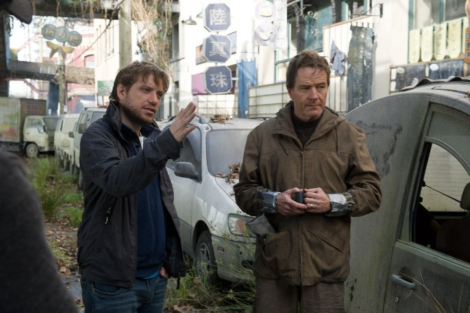 Gareth Edwards on the set of Godzilla