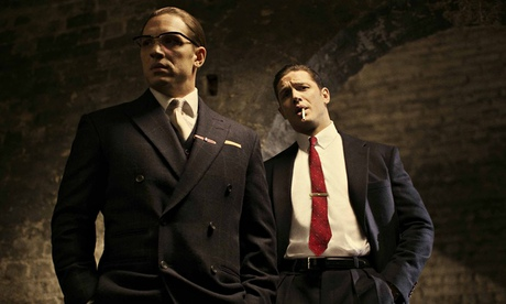 Tom Hardy plays both Ronnie (left) and Reggie Kray in  Legend .