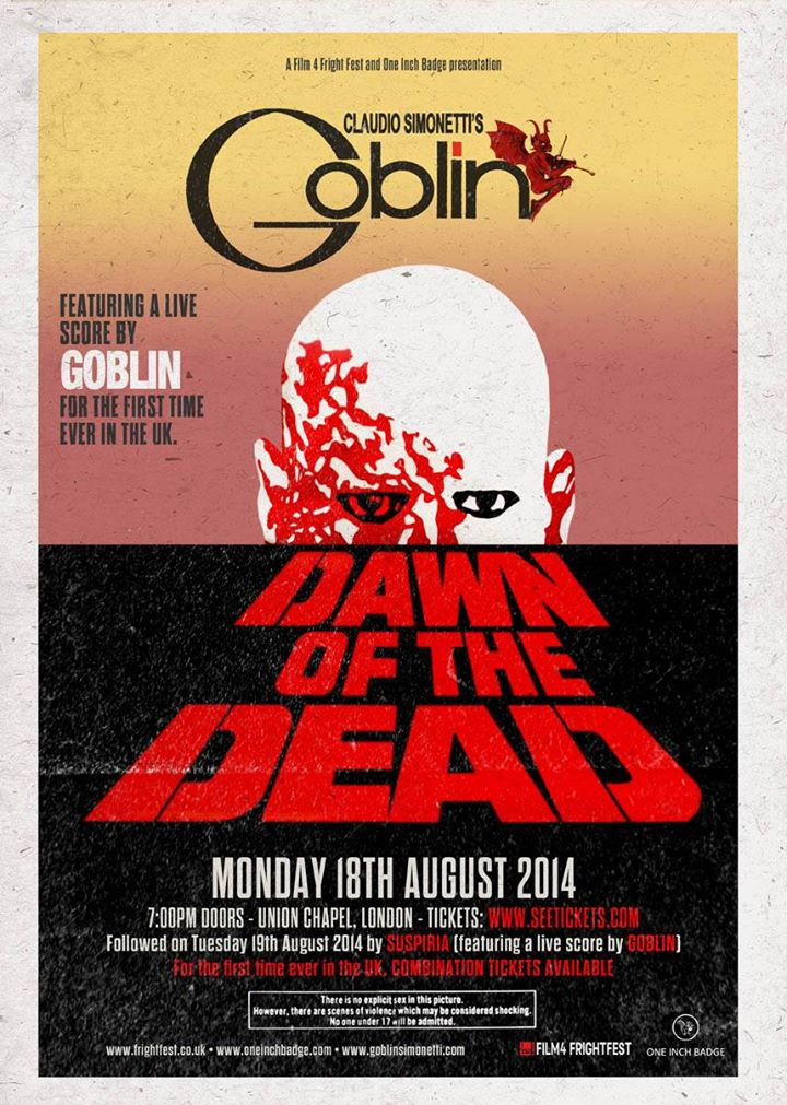 Goblin's Dawn of the Dead Live Score Event Poster
