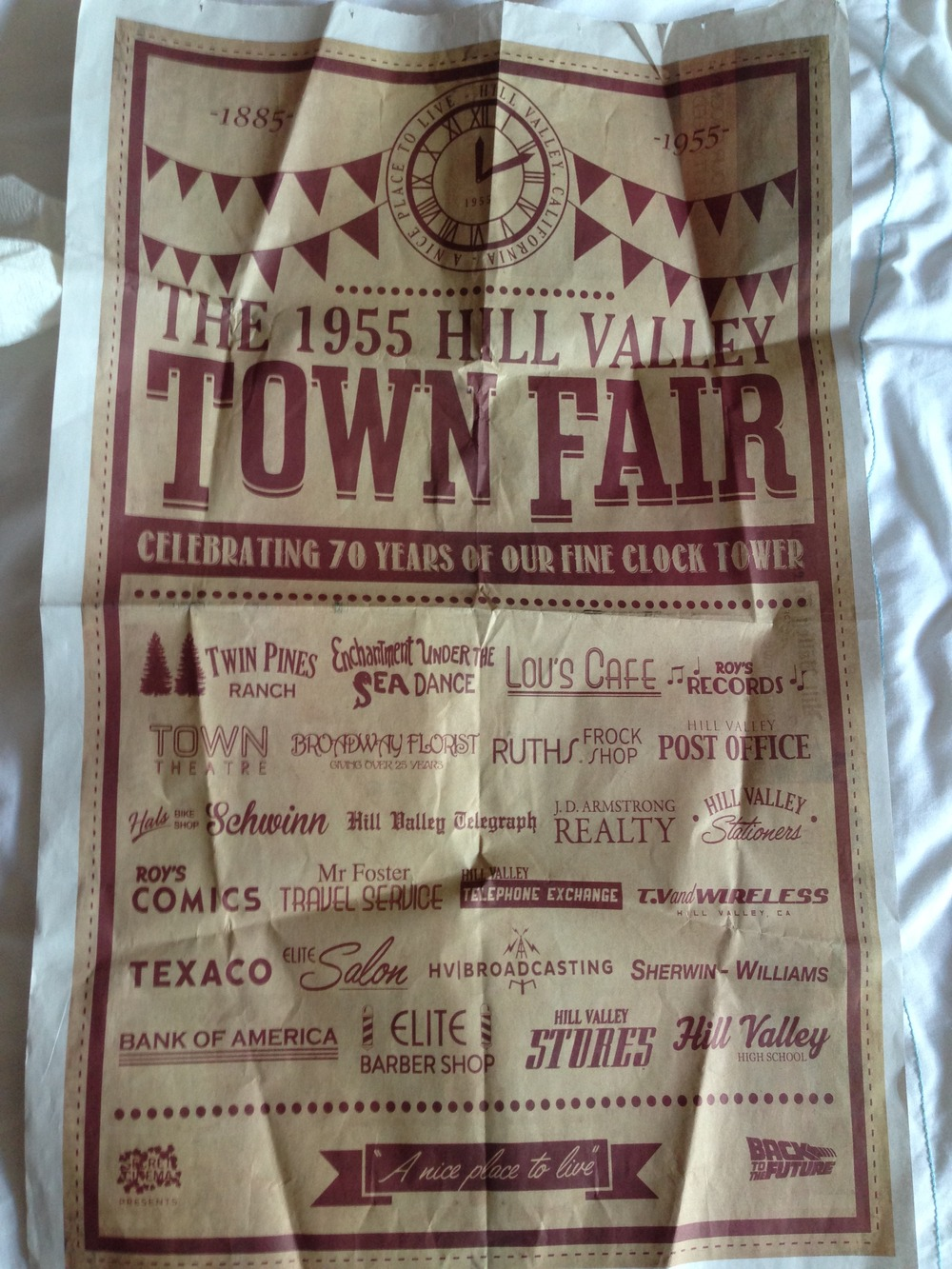 The level of details extends to throwaway props like Hill Valley newspapers and flyers..