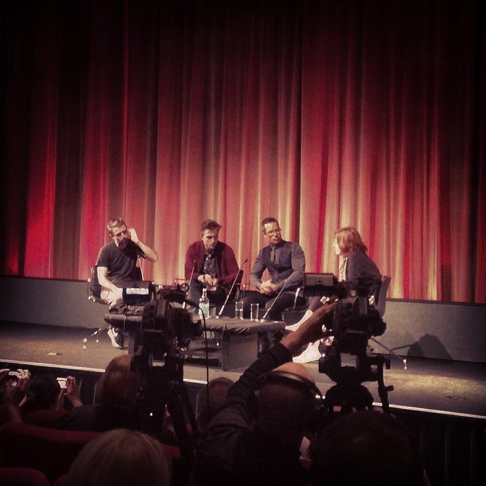 David Michod, Robert Pattinson and Guy Pearce at BFI Southbank