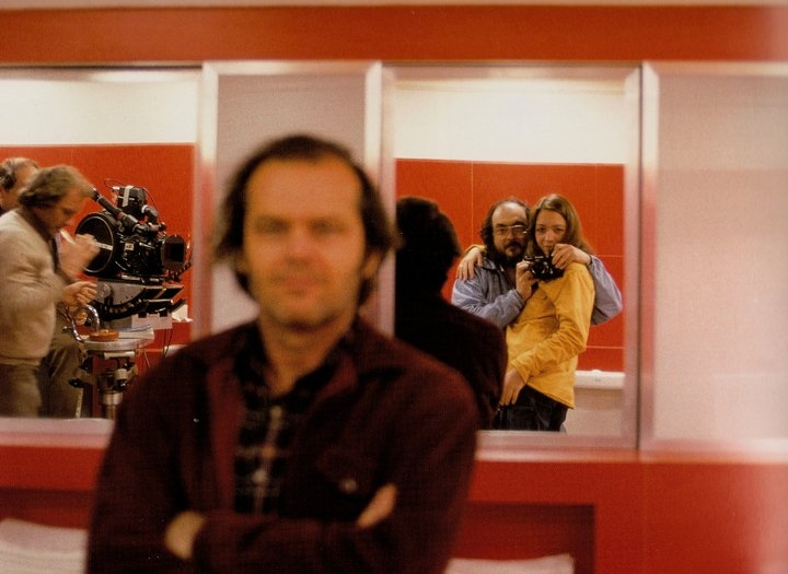 Jack Nicholson and Stanley Kubrick on the set of  The Shining