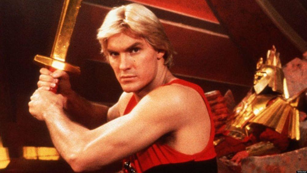 Gordon's Alive! Sam Jones as Flash Gordon takes on the merciless Ming in the 1980 film  Flash Gordon