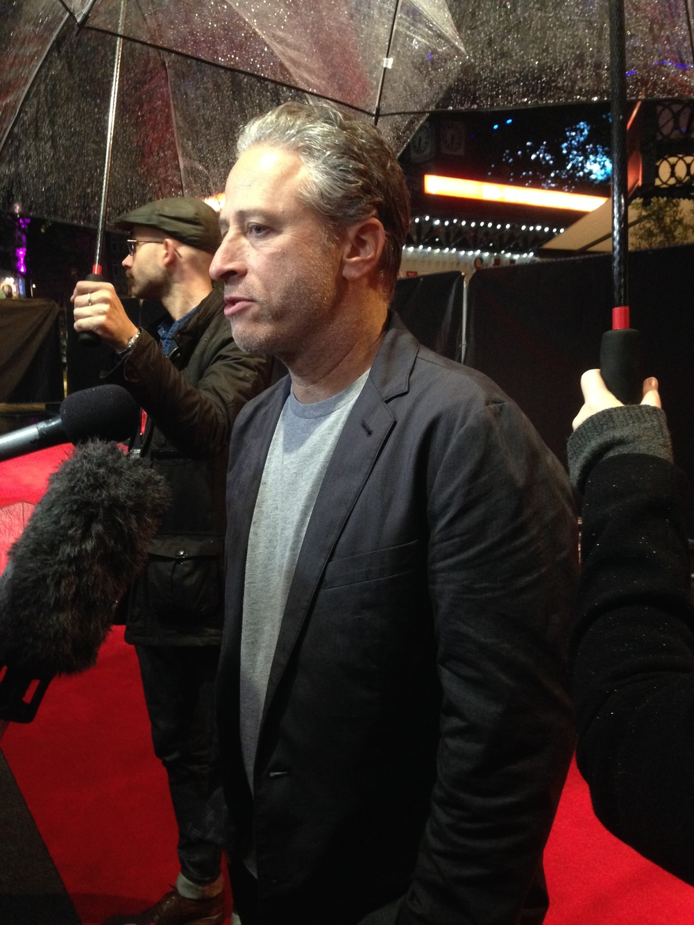 Jon Stewart on the red carpet for the UK premiere of his debut film  Rosewater