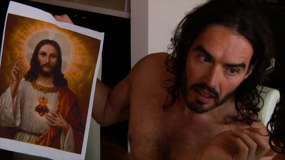 Messiah complex: Russell Brand at work