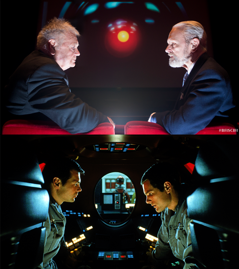 GARY LOCKWOOD AND KEIR DULLEA IN  2001: A SPACE ODYSSEY.
