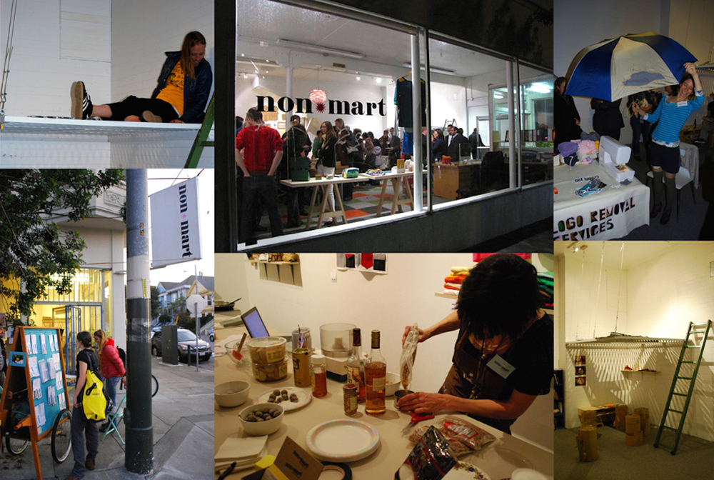 Non*Mart , 2009-2010. Collaboration with Kathryn Kenworth. Barter-based shop and platform for alternative economies, artist lead workshops and community space.