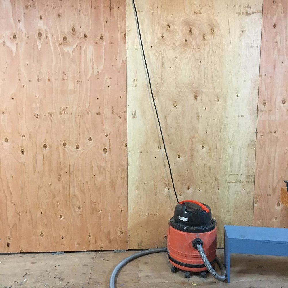 Walls going up in  my new shop in Watsonville, 2018