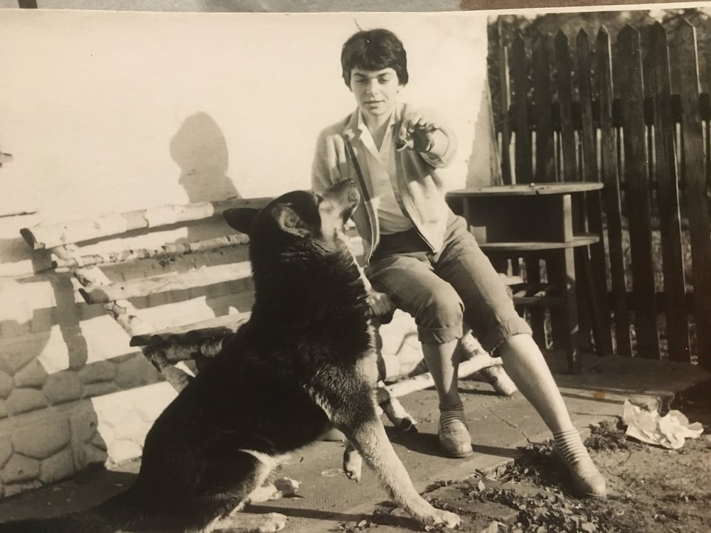 my mother and her loyal companion