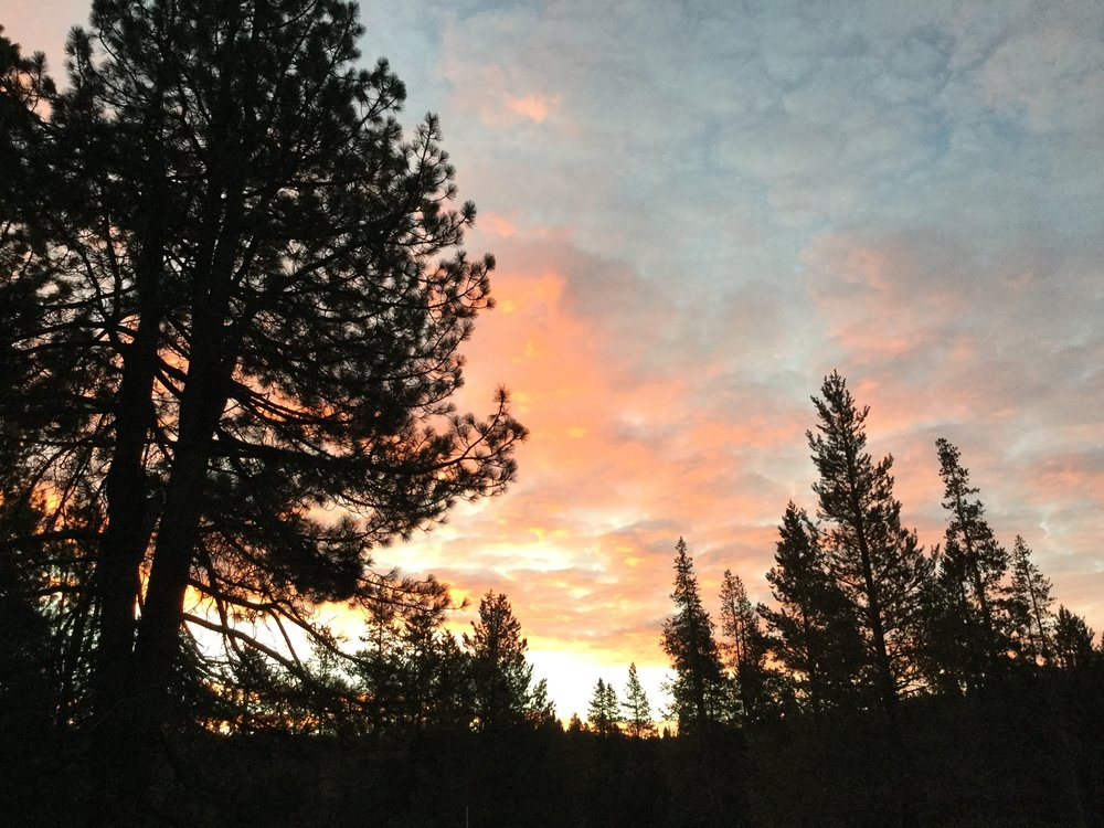 Sunrise at Sage Hen Field Station