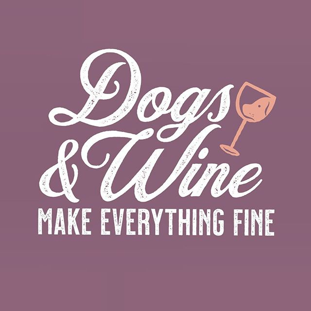 Don't worry. Just drink your wine and pet the dog. It's all going to be ok. .  Artwork created for @iheartdogscom
