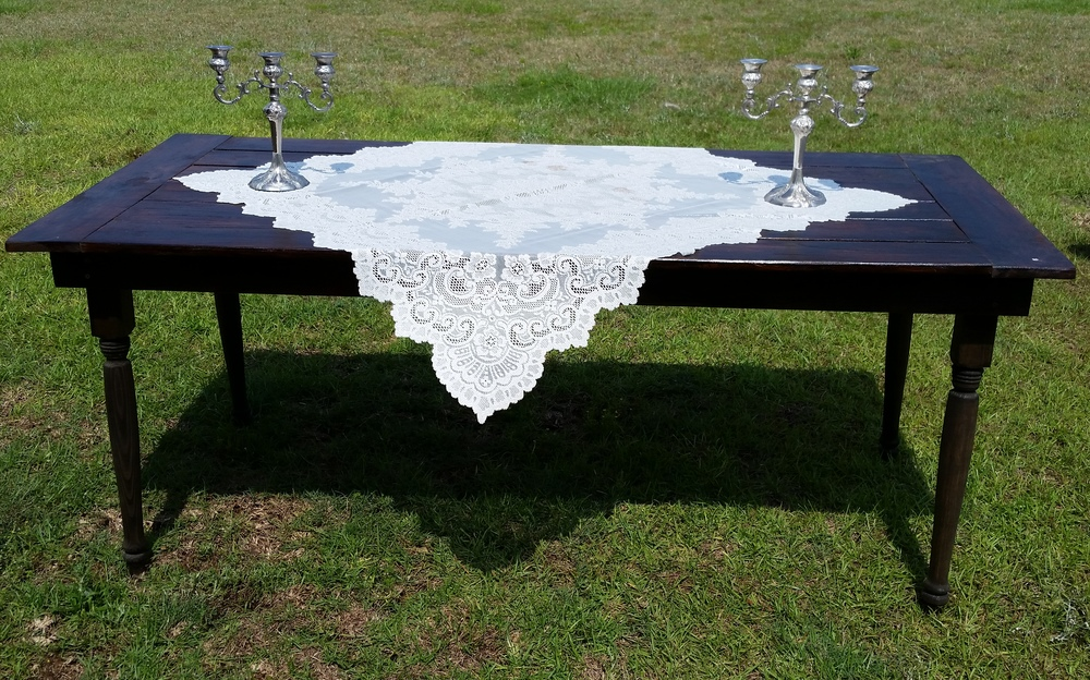 Farm house table rentals