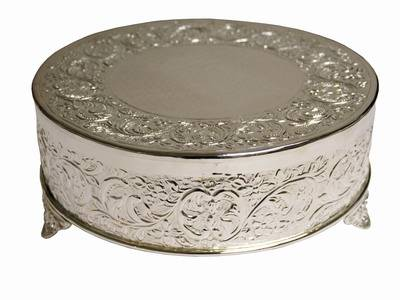 Round Silver Cake Stand Rentals Mobile Al