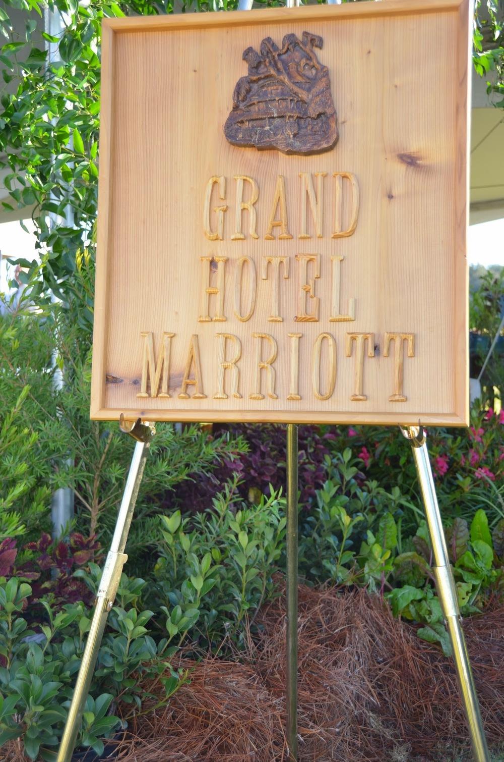 Grand Hotel Marriott sign