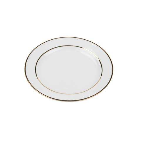 Gold Rim China Rental Salad Dessert