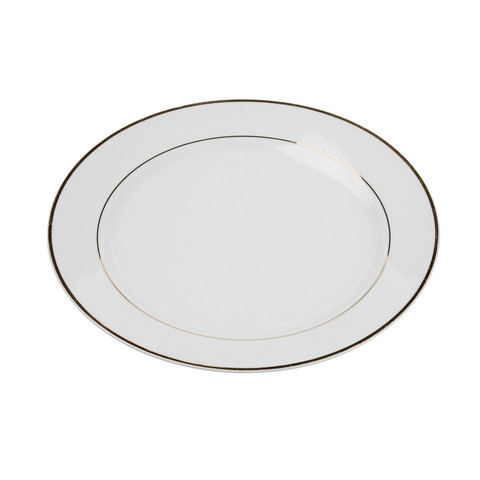 Gold Rim China Dinner Plate Rent