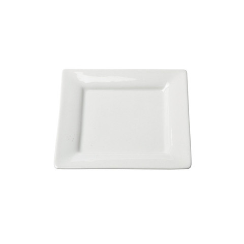 White Square Dessert Plate China Rental