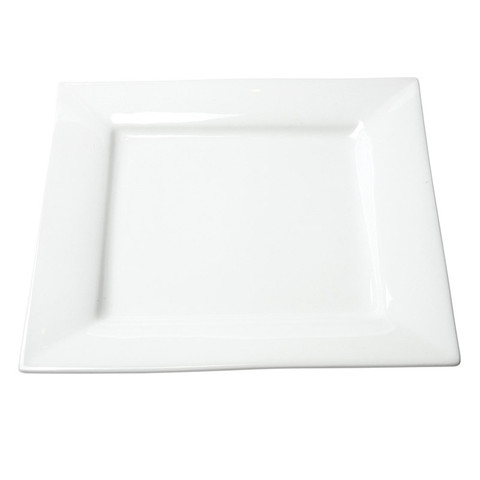 White Square Dinner Plate Rentals