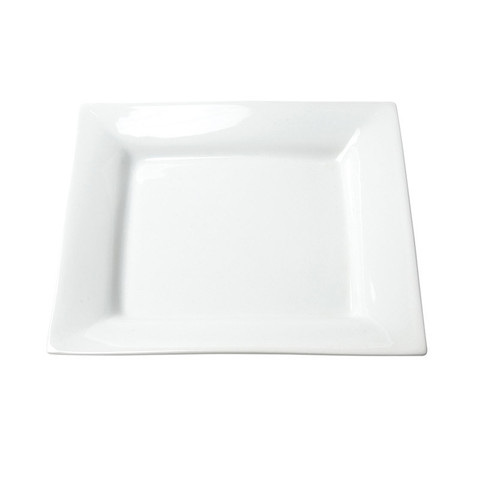 White Square Salad Plate Rental