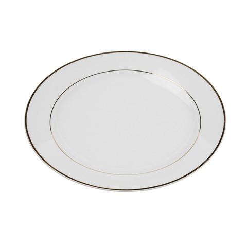 Gold Rim White Dinner Plate 10.5.jpg
