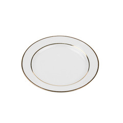 Gold Rim White Salad.Dessert Plate 8.jpg