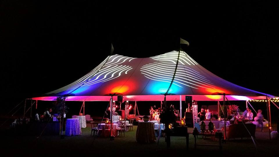 Sailcloth Tent with Lighting/Effects