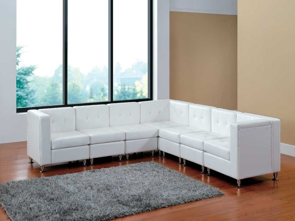 White Leather Furniture L