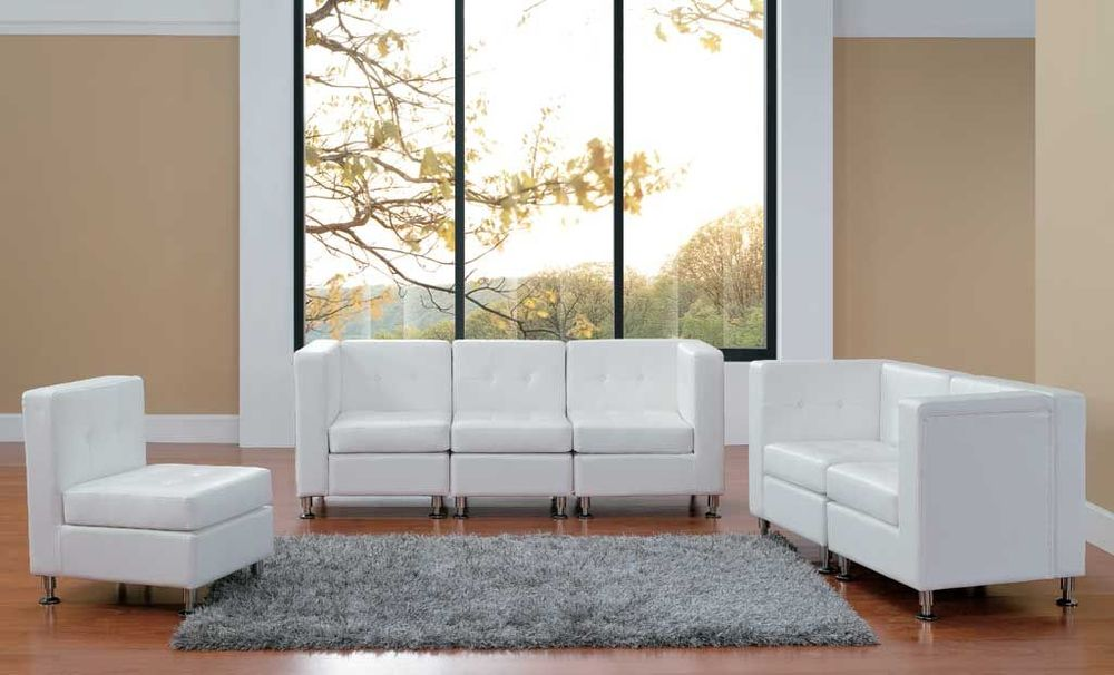 White Leather Furniture Rental