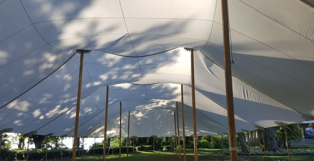 sailcloth tent wedding