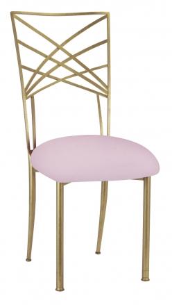 Soft pink velvet front