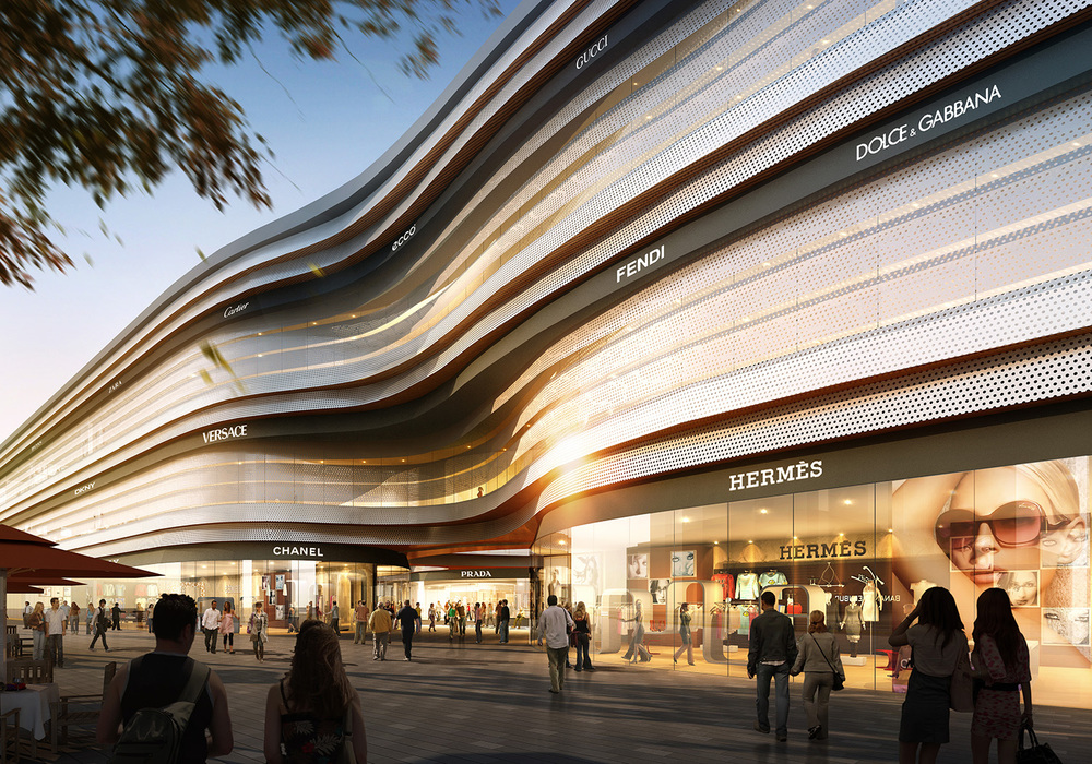 Modern Architectural Forms shopping centre 2 — wang & macqueen