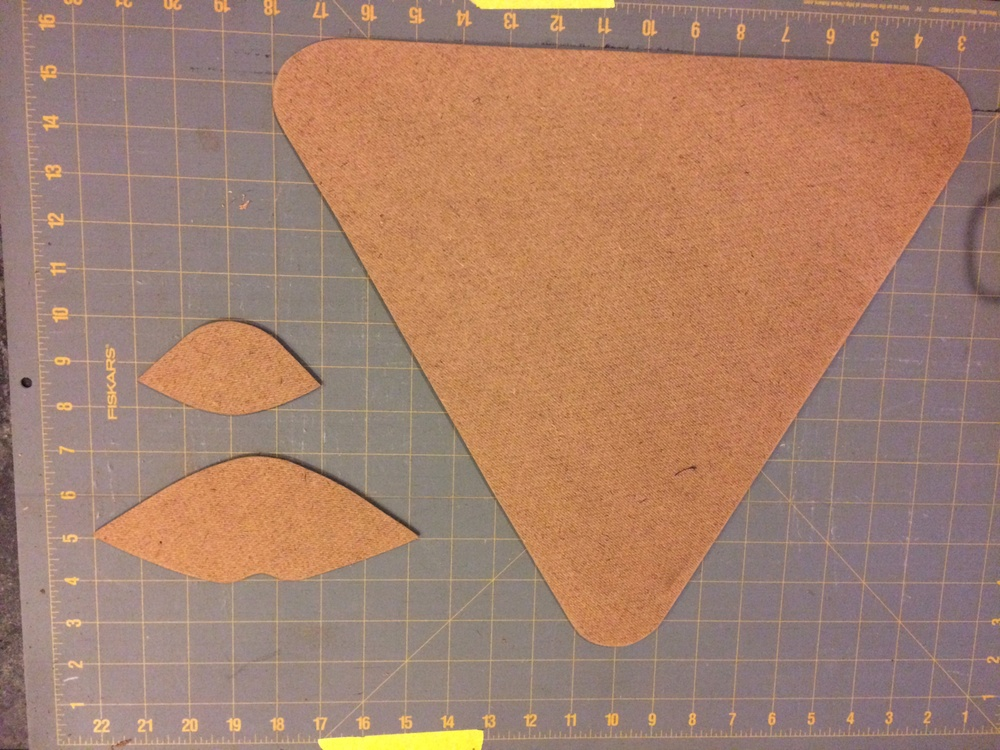 "Templates made of 1/8"" hardboard"
