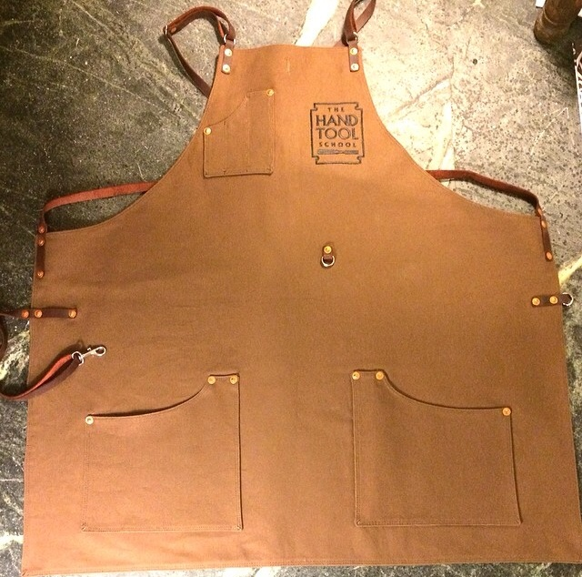 Custom left handed apron by Texas Heritage Woodworks