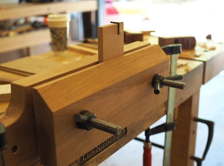 Smaller Moxon Vise built by Clark Kellogg, Furnituremaker in Houston, TX