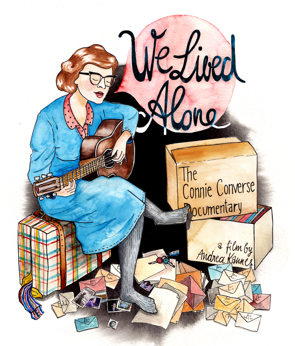 Poster design for W e Lived Alone - The Connie Converse D  ocumentary ,