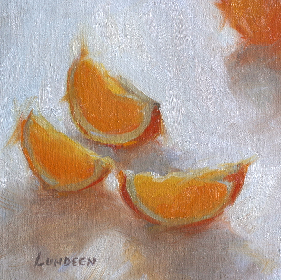 "Citrus and Sunlight - 6""x6"" - SOLD"