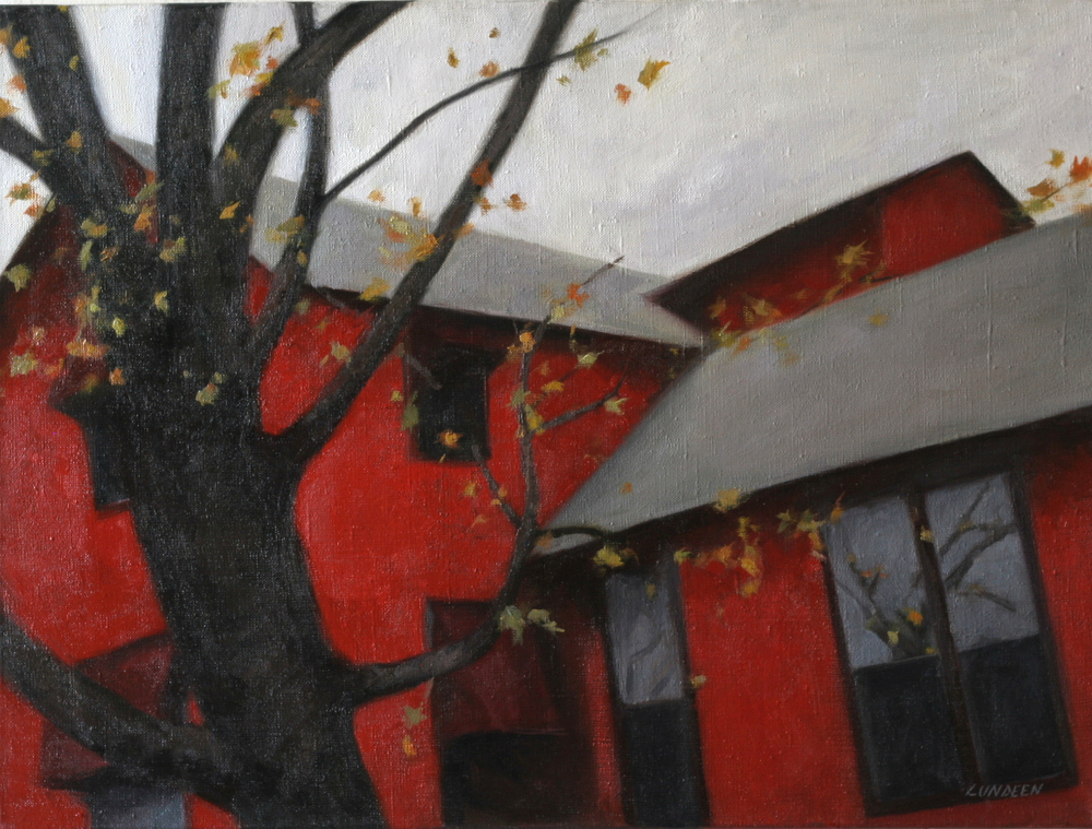"Red House - 18""x24"" - Oil on linen - SOLD"