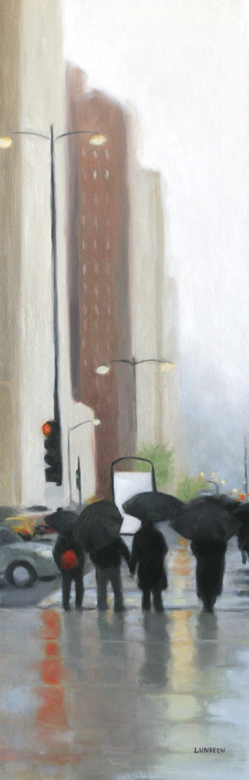 "The Big City - 10""x30"" - SOLD"