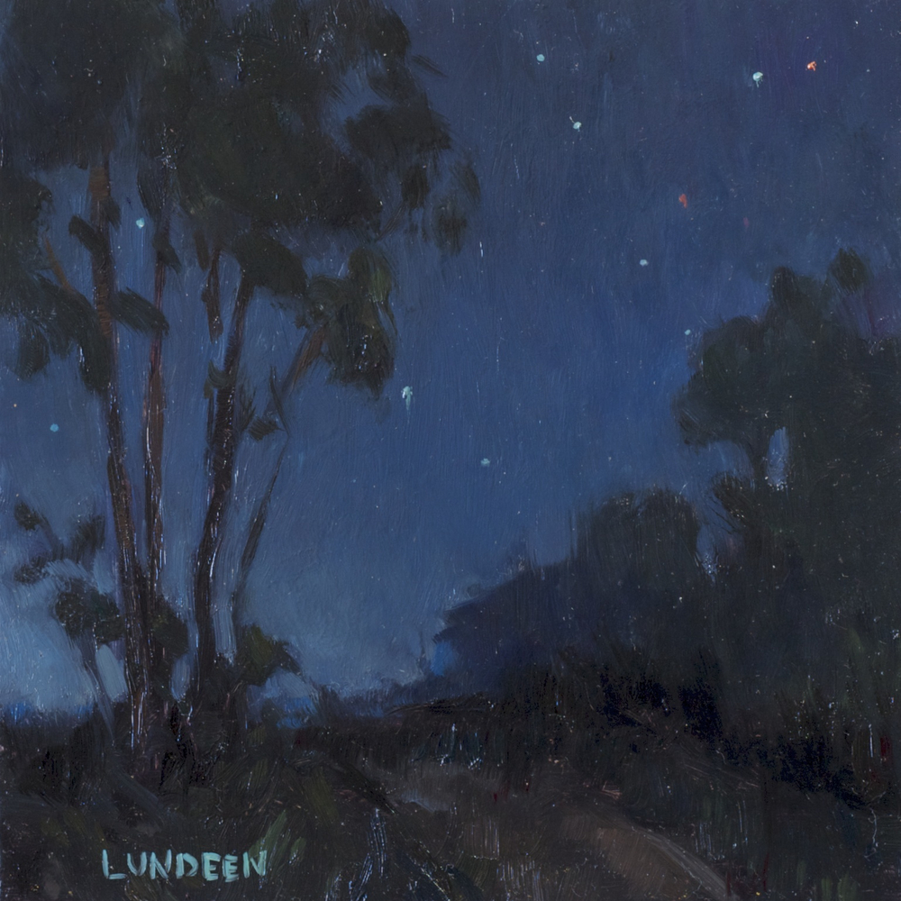 "Nocturne #1   - 6""x6"" - Oil on board   -   SOLD"