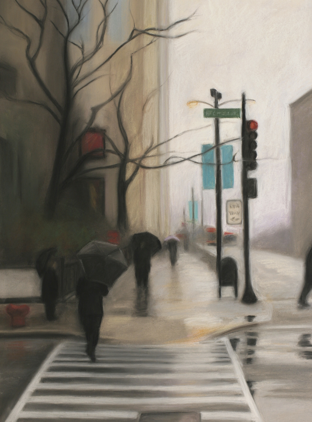 "Chicagoscape I - 17""x23"" - Pastel - SOLD"
