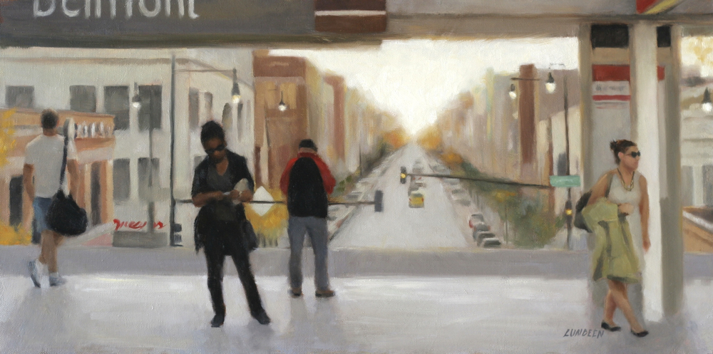 "The Red Line - 12""x24"" - Oil on canvas"