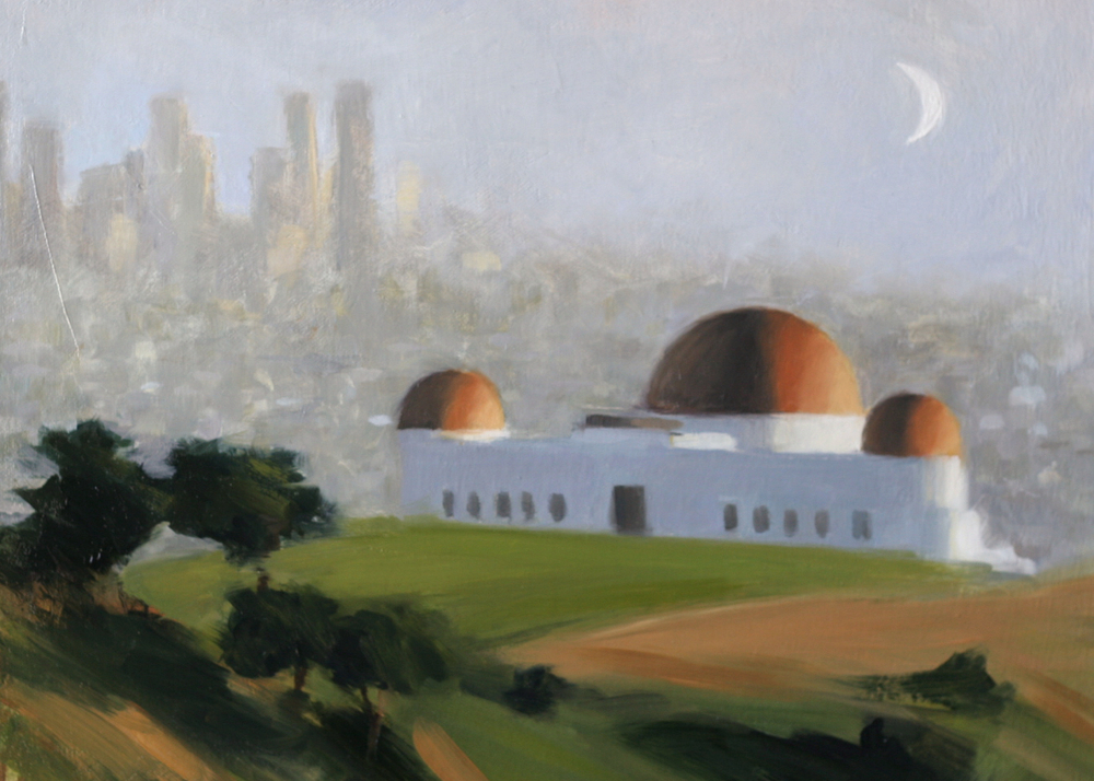 "Observing the Observatory -   12""x16"" - Oil on canvas -  SOLD"