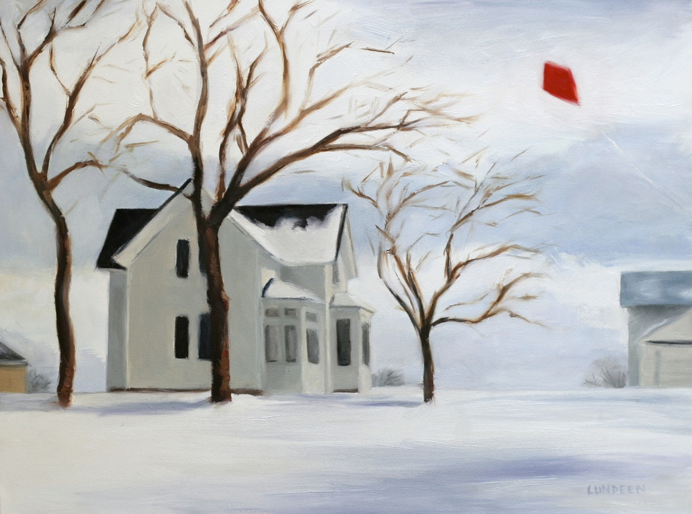 "Snow Day - 9""x12"" - oil on panel - Private collection"